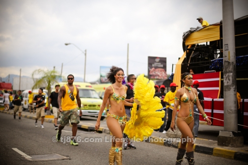 Yendi Phillips at Jamaica Carnival Road March 2013