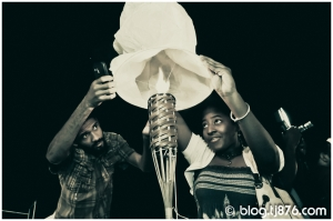 Chinese Lantern Lighting Ceremony at Earth Hour Kingston Jamaica