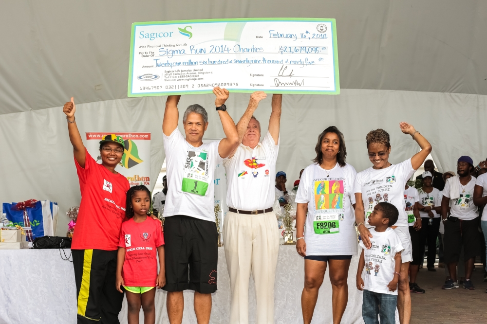 Sagicor Sigma Corporate Run 2014 Raised JMD 21,679,095.00 for charity