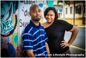 Engagement Photos. Downtown Kingston Jamaica