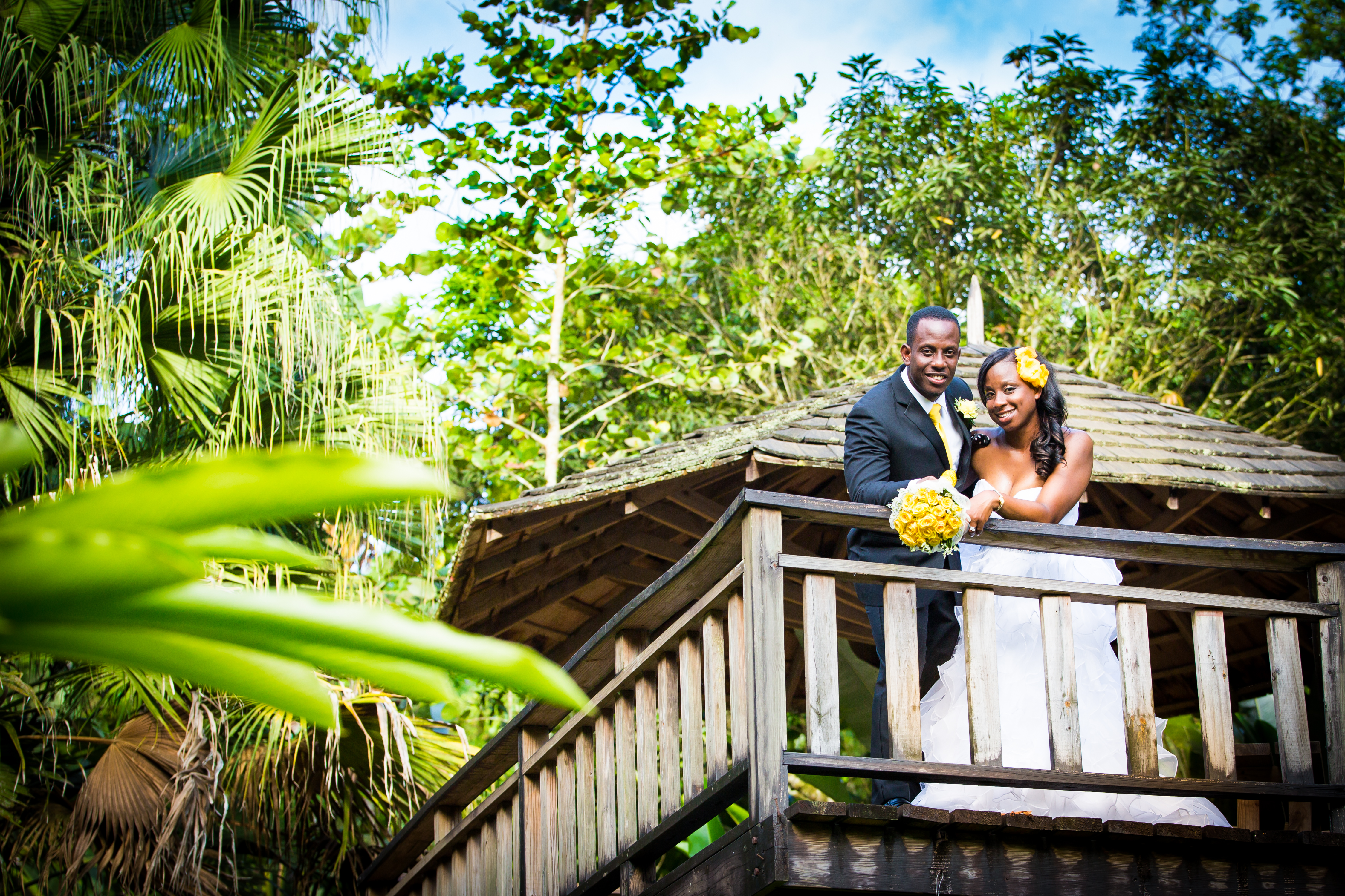 Wedding Struan Castle Garden Tj876 Jamaican Lifestyle