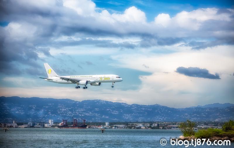 Fly Jamaica Airline Landing in Kingston