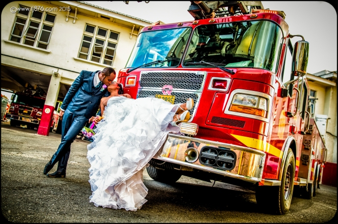 Fire Truck Wedding